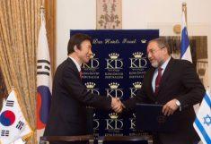 Авигдор Либерман и глава МИДа Южной Кореи